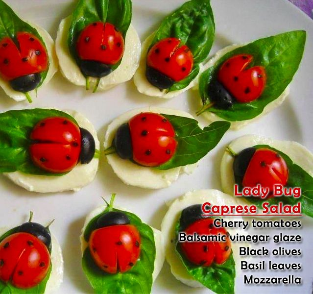 Lady Bug Caprese Salad