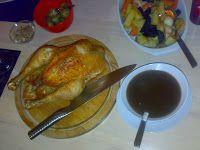Klidmoster.dk: Perfekt stegt kylling. Perfectly roasted chicken, danish website.