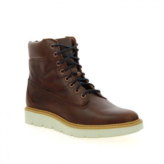 Bottillons à lacets femme marron TIMBERLAND KENNISTON - Bessec-chaussures.com