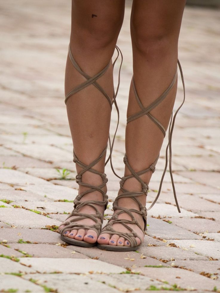 Lace up and zip in the back gladiators these tan gladiators are a must have this season. They match with everything!!