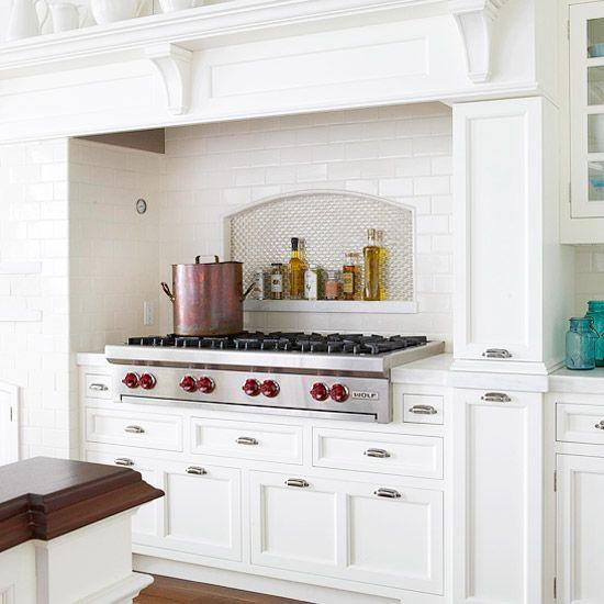 Kitchen Shelf Above Cooker: Kitchen Backsplash Ideas: Tile Backsplash Ideas