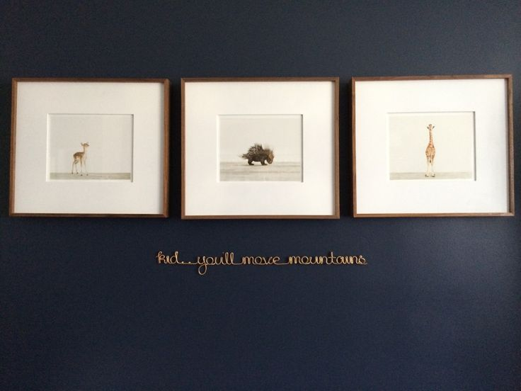 "This wire quote makes such great wall decor in the nursery! ""Kid... You'll Move Mountains"" #nursery #walldecor"