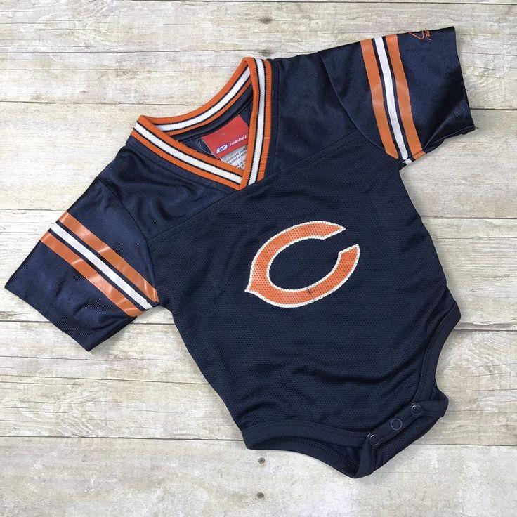 REEBOK Baby Jersey Chicago Bears NFL INFANT NEWBORN CREEPER Bodysuit 12 Months #Reebok #ChicagoBears