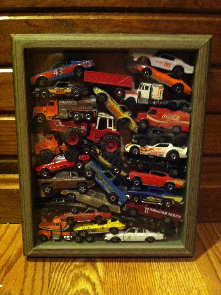 Shadow box with old hot wheels (With images) Shadow box