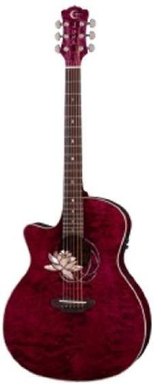 luna guitars cel horse guitare acoustique motif horse
