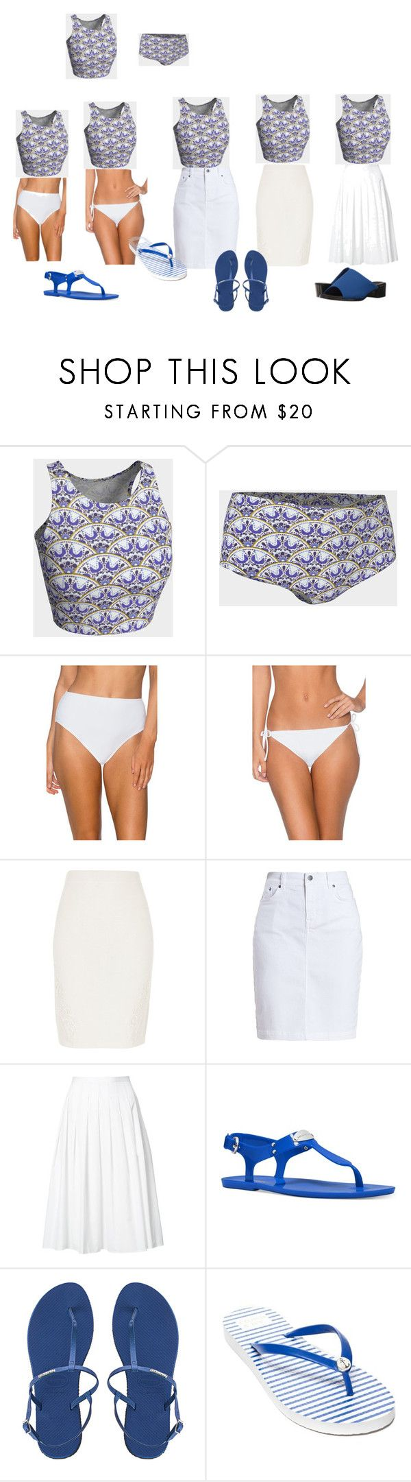 """""""One Crop Top..."""" by ginasphotocreations on Polyvore featuring Sunsets, River Island, Barbour, Vince, Michael Kors, Havaianas, Crown & Ivy and Munro American"""