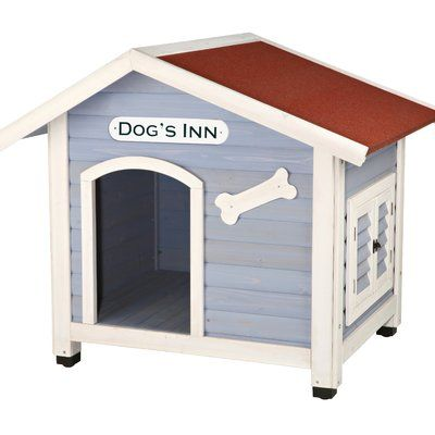 """This Merax wood dog house features high-quality natural cedar wood which is environmental-friendly, specially designed for your smaller pets. Finished with waterproof paint makes it ideal for both indoor and outdoor use. The delicate unique balcony design ensure your lovely pet to have an enjoyable sunbath and a great view when it's a sunny day. Also, you can place the pets' dishes and bowls on it, which act just as a """"private dining rooms"""" of the dog/cat itself. The roof t..."""