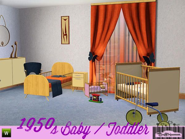 1950s Baby and Toddler Addon by BuffSumm Sims 3