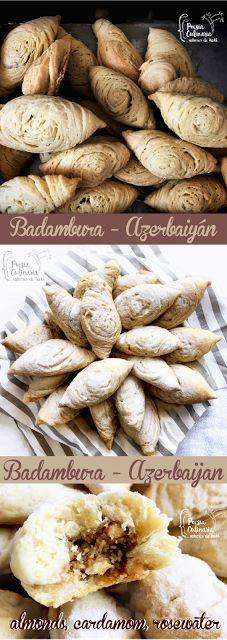 Paladares {Sabores de nati }: Badambura, pasteles rellenos de almendras con cardamomo [Azerbaiyán].  badambura, azerifood, cardamom, almonds, nuts, azerbaijani cuisine, выпечка, рецепт, орехи, кулинария, Бадамбура
