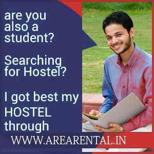 Are you student and searching for Hostel/PG?  You  can find hostel  at www.arearental.in