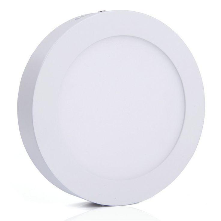 Falon kívüli 12 wattos led panel, meleg fehér, kör alakú (2246)