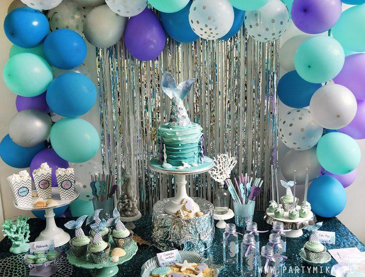 Urodziny Małej Syrenki Mermaid Party; Mermaid Cake