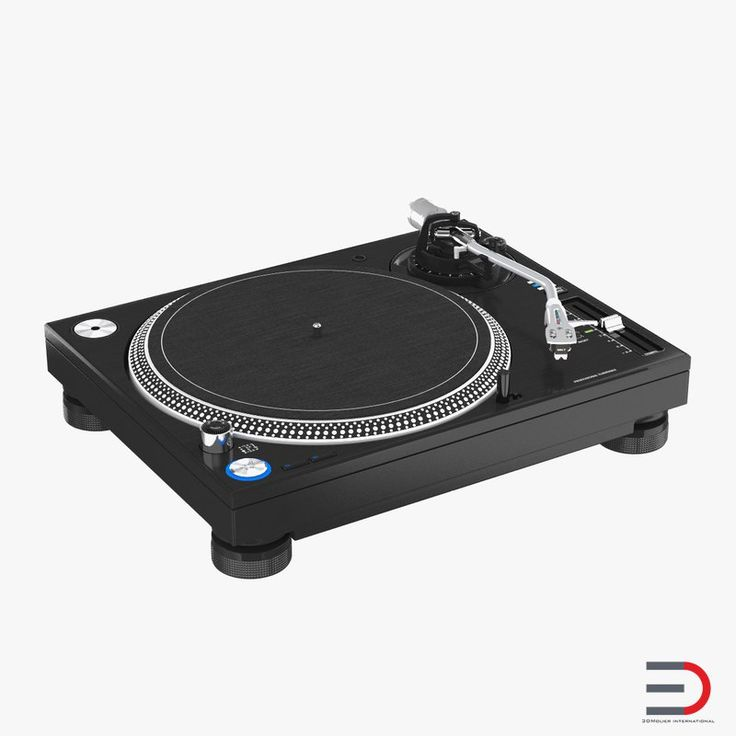Professional DJ Turntable 3D model