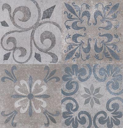 Antique blue bath pinterest tile blue and patchwork - Baldosa hidraulica porcelanosa ...