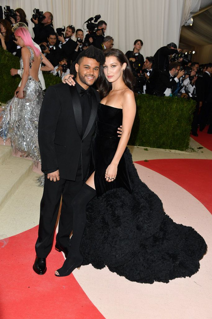 The Weeknd and Bella Hadid on the red carpet after a year of dating.