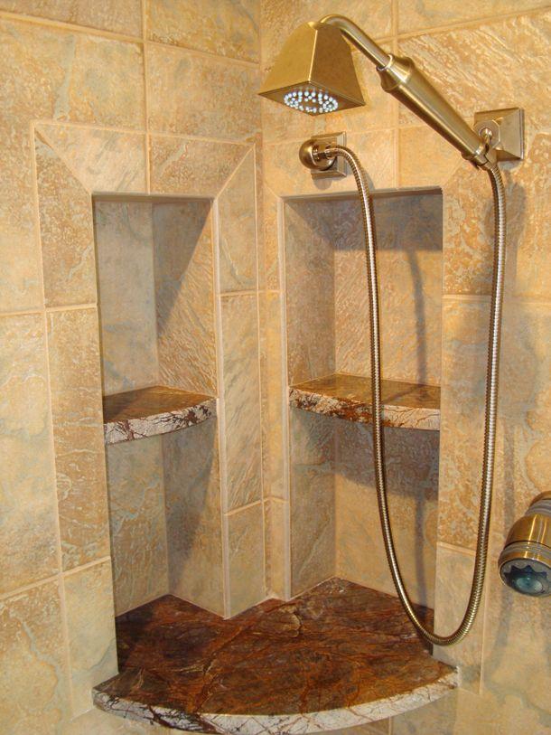 Bathroom Inspirational Shelves #marble #shower
