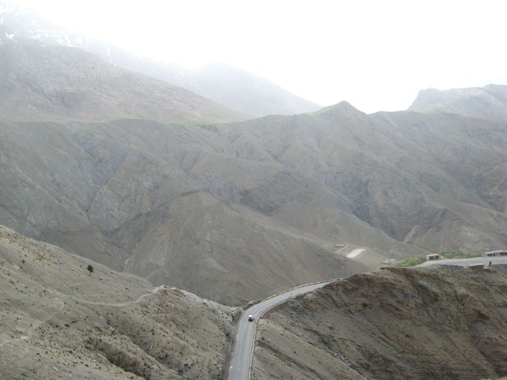 Driving at the Atlas mountains