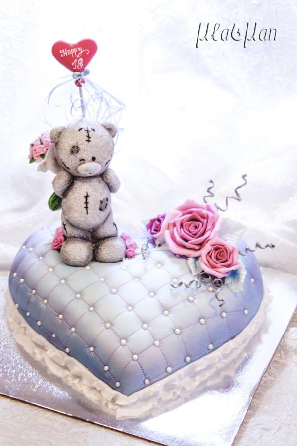Teddy Heart - Cake by MLADMAN