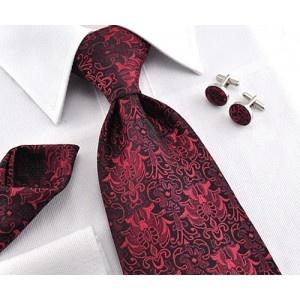 cravate, pochette, boutons de manchette