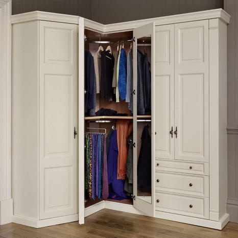 Wardrobes the o 39 jays and corner wardrobe on pinterest for L shaped bedroom cupboards