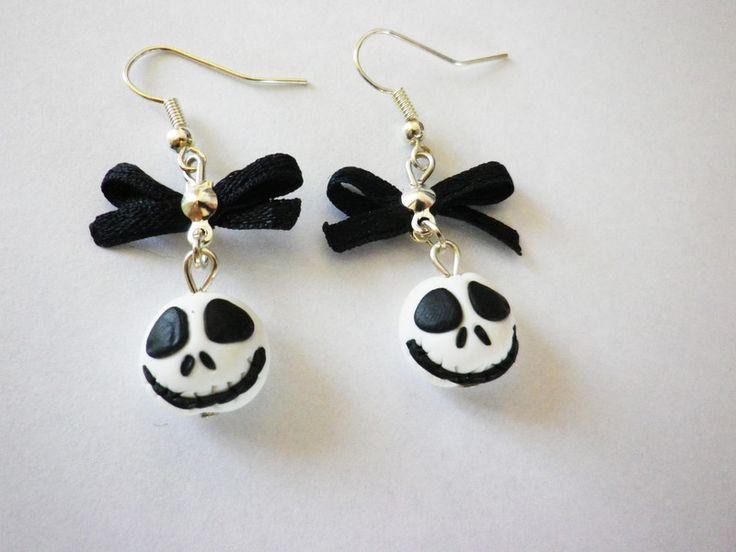 Bijoux, boucles d'oreilles tete de mort jack halloween  est une création orginale de fimorelie sur DaWanda