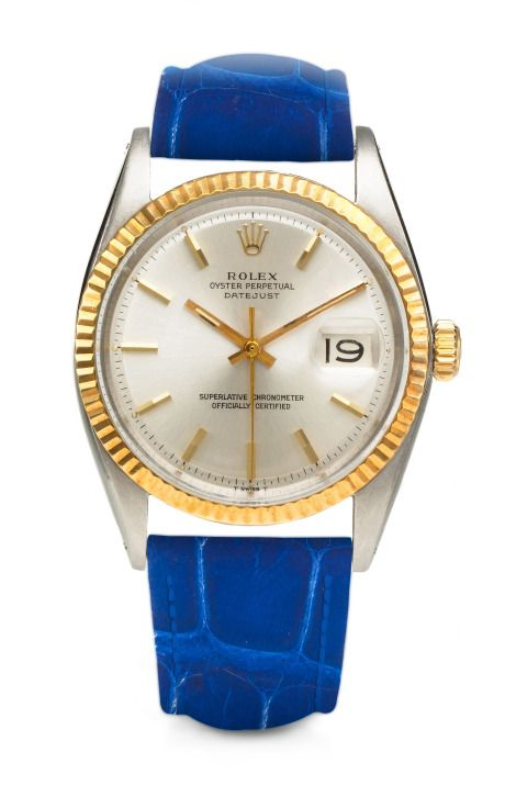 Rolex Oyster Perpetual DateJust Chrome Face Watch by Foundwell - Moda Operandi