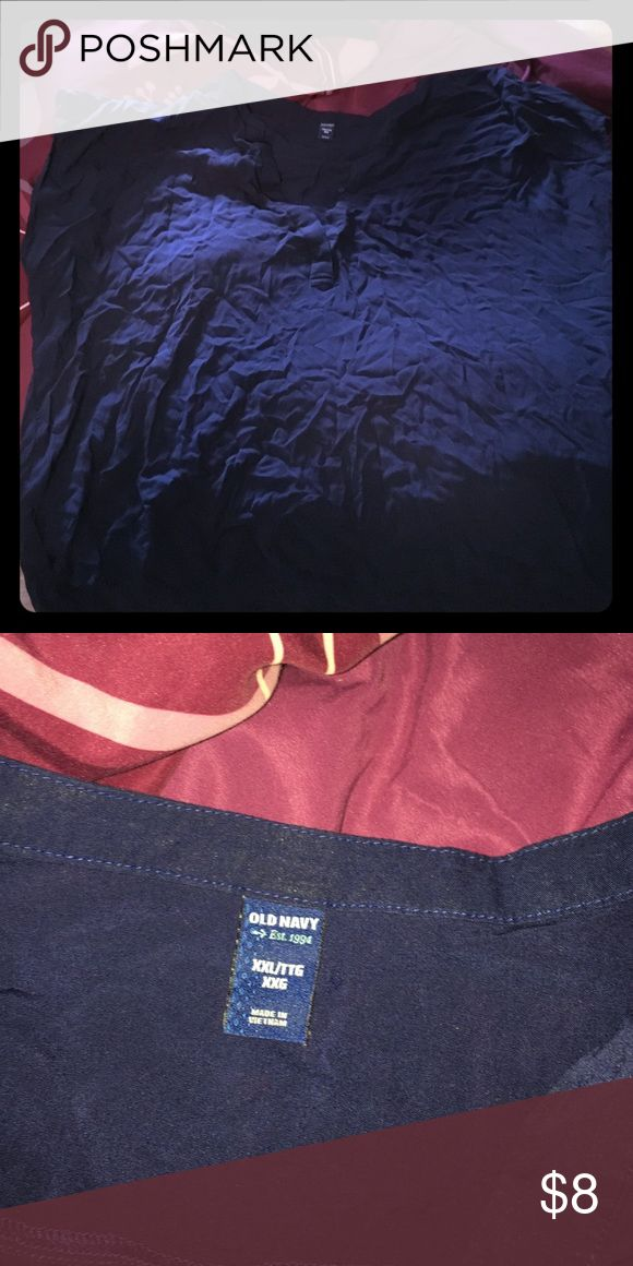XXL Old Navy shirt. Navy blue. XXL. Navy blue. Very soft and comfortable. Sorry for the wrinkles Old Navy Tops