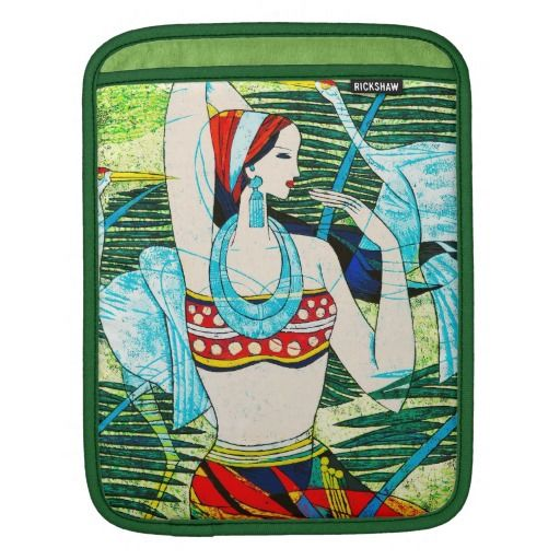 Crane Dance Spring Breeze Hao Ping oriental lady Sleeve For iPads