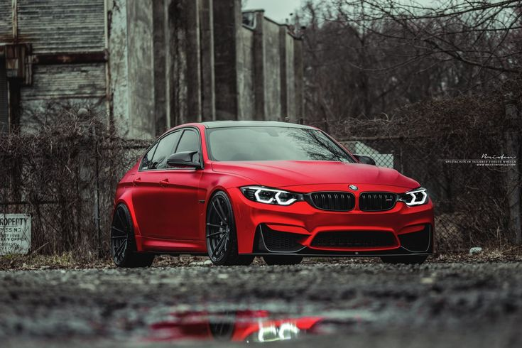 "Frozen red F80 M3 BMW on 20"" Brixton Forged M51 Duo Series forged wheels - 2-piece, concave wheels lemans grey - Frozen red BMW F80 M3 and forged wheels"