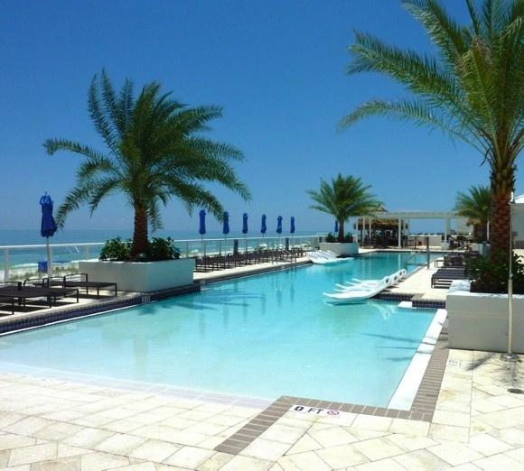 The Margaritaville Beach Hotel pool in Pensecola, Florida