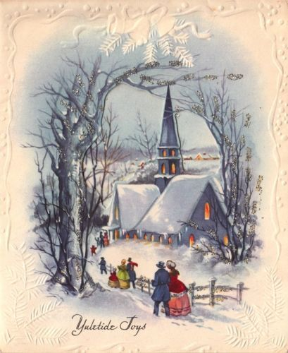 Painting Church In Snow Religious Christmas Ceramic: 792 Best Images About The Vintage Christmas Album On