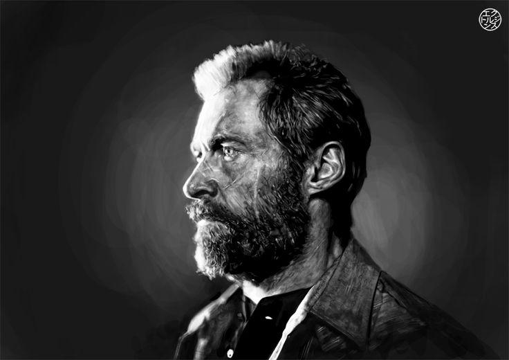 Logan (Hugh Jackman) Digital Speed Painting . 5h by Hector Jenz 2017  #hugh #jackman #actor #bestactor#weaponx #wolverine #xmen #hughjackman #marvel #marvelentertainment #marvelcinematicuniverse #drawing #fanart #logan #lobezno #x23 #laura #xavier #march #2017 #light #finearts #portrait #cintiq #digitalpainting