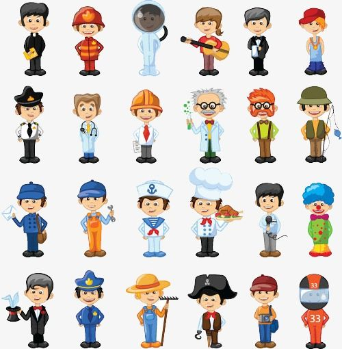 Occupation People, Cartoon, Occupation, Character PNG and