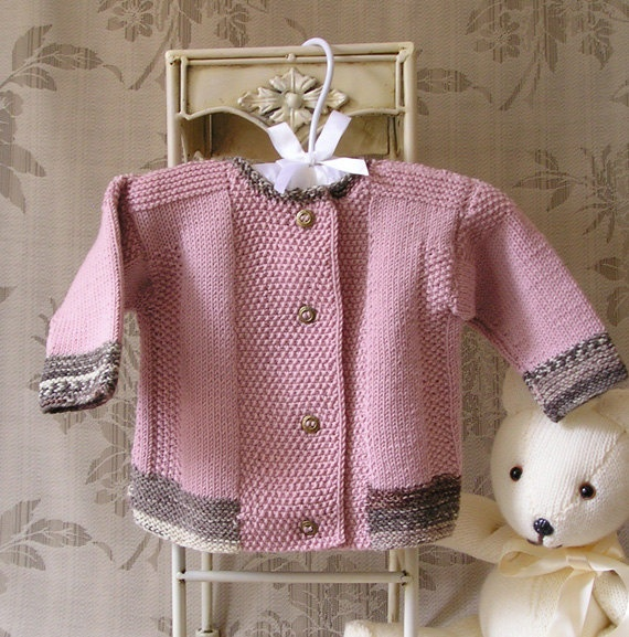 Baby Jacket with contrasting trim  S007 by OgeDesigns on Etsy, $60.00