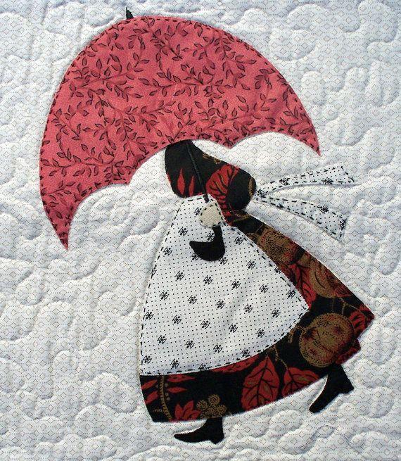 Umbrella Girls Applique Pdf Quilt Pattern Par
