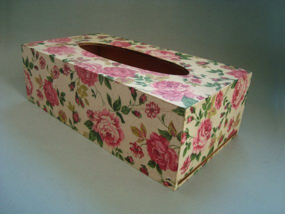 Wood tissue napkin box. Wood napkin box. Wood Napkin holder