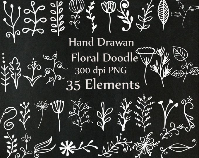 30 dibujado a mano esquina imágenes prediseñadas tiza y