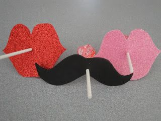Use a cricut or another product to cut out mustaches and lips to give our with suckers for Valentine's Day. The kids would LOVE this!