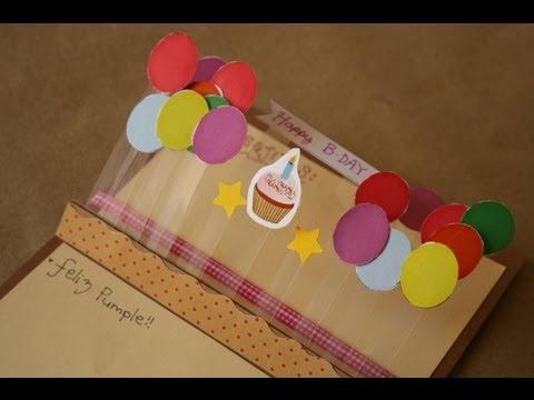 Tarjeta de cumpleaños originalisima y paso a paso, van a matar a quien se la den!