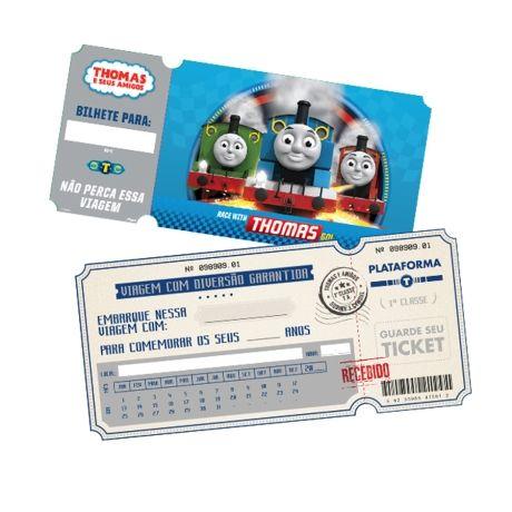Compre REGINA FESTAS : Convite Thomas e Amigos c/ 08 unidades por R$8,90 - MZDecoracoes