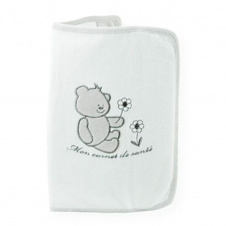 Joli protège carnet de santé Bonne nuit en velours tout doux à glisser dans le sac à langer de bébé pour l'avoir toujours avec vous !