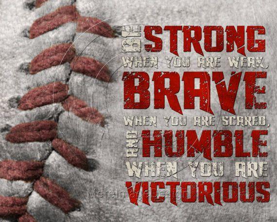 baseball be strong motivational poster original design