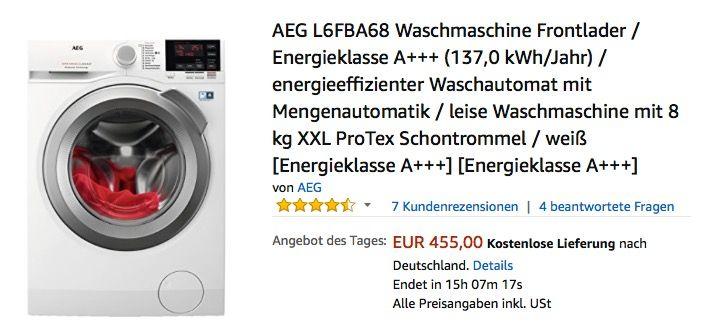 Aeg L6fba68 Waschmaschine Frontlader Waschmaschine Wasche Und