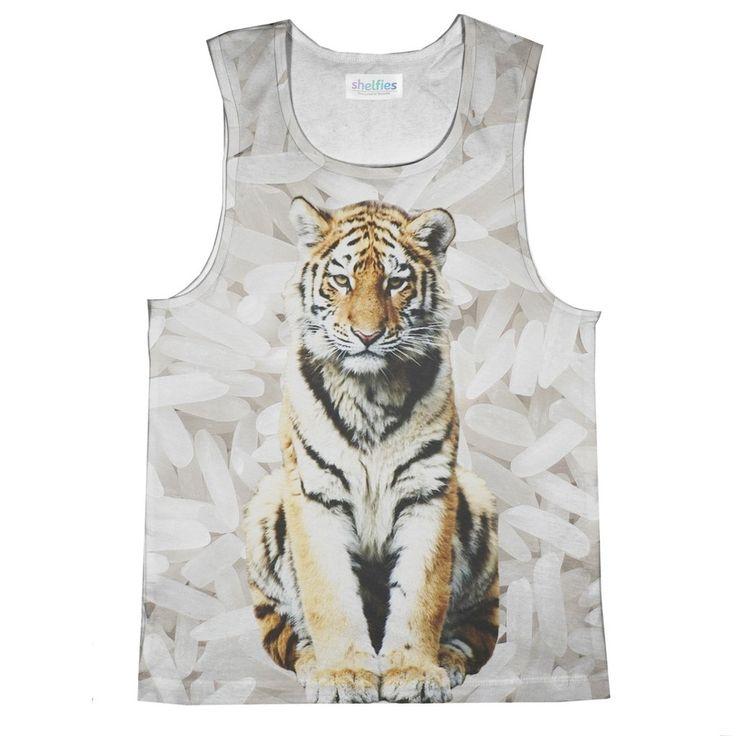 Tank Top (Loose) - Rice Tiger Loose Tank Top