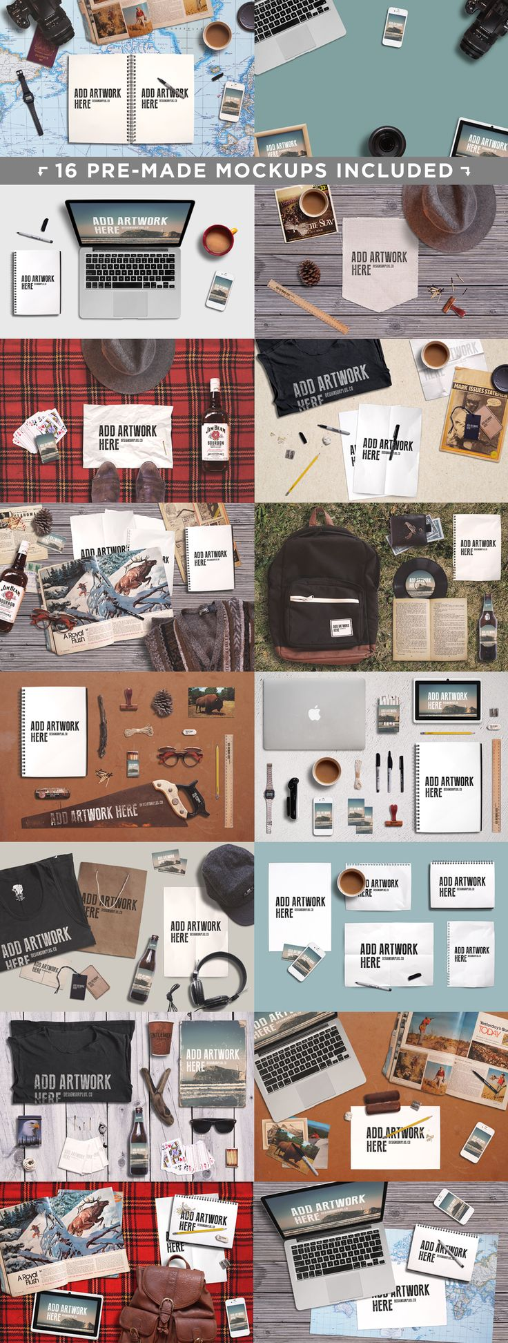 Create Your Own Mockups by Design Surplus on @creativemarket