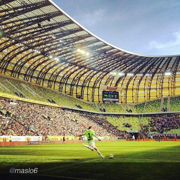 The best pics of Igersgdansk Instareporters. Lechia Gdansk #football #soccer #sport #pgearena #instamood #instagood #bwautiful #igers #instagramers #igerspoland  by @Anna Wrona via @InstaReposts (w: PGE Arena Gdańsk)