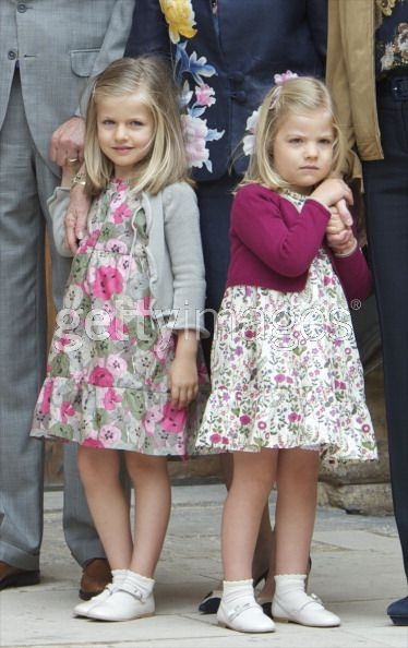 Spanish Princesses Leonor & Sofia are cuties that will no doubt blossom into regal beauties.
