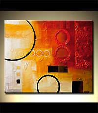 abstract art paintings by Osnat Tzadok - CIRCLING AROUND THE MOON