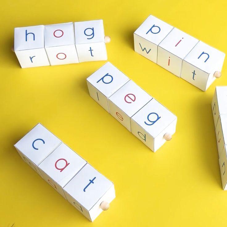 Montesorri Phonetic Letter Blocks For Reading