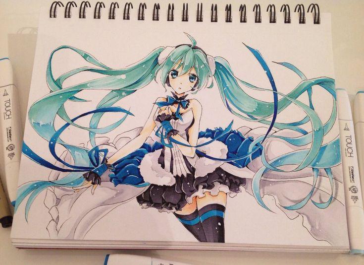 Hatsune Miku by Fangirl342 on DeviantArt
